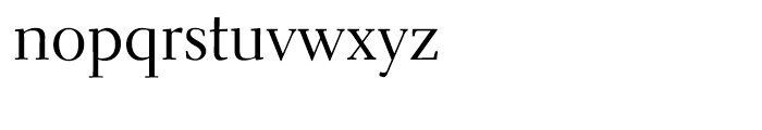 Parkinson Electra Regular Font LOWERCASE