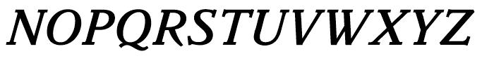 Parkinson Medium Italic Font UPPERCASE