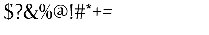 Parkinson Roman Font OTHER CHARS