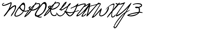 Pascal Handwriting Regular Font UPPERCASE