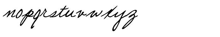 Pascal Handwriting Regular Font LOWERCASE