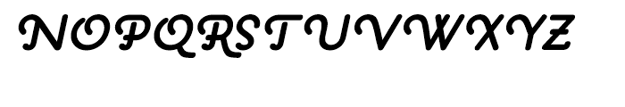 Pauline Bold Oblique Font UPPERCASE
