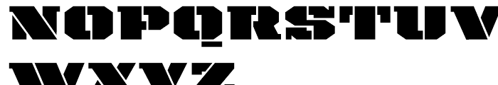 Payload Wide Font UPPERCASE