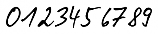 Pablo Handwriting Regular Font OTHER CHARS
