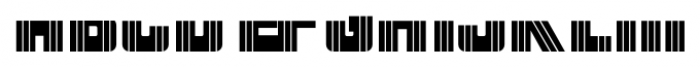 Patriotica JNL Stripes Layer Font LOWERCASE