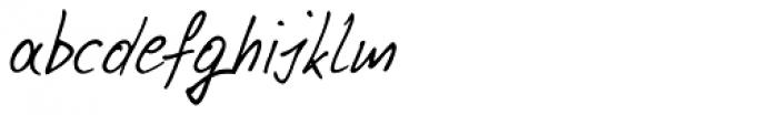 Pablo Handwriting Font LOWERCASE