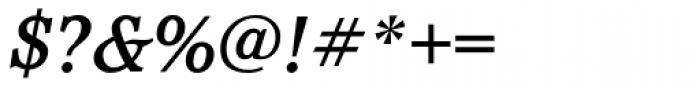 Pacella Medium Italic Font OTHER CHARS