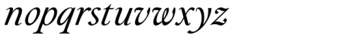Paciencia Regular Italic Font LOWERCASE