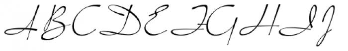 Pacific Script Font UPPERCASE