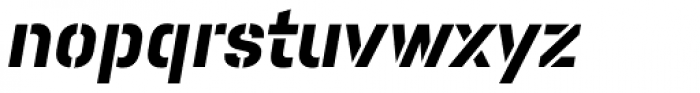 Pacifista Bold Italic Font LOWERCASE