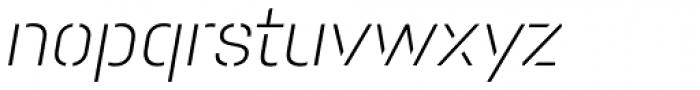 Pacifista Light Italic Font LOWERCASE