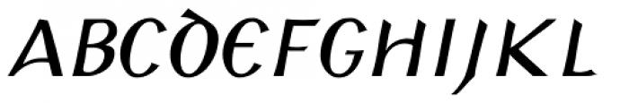 Padraig Nua Italic Font UPPERCASE