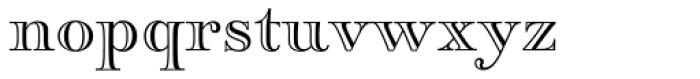 Paganini Open Font LOWERCASE