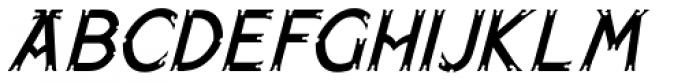 Paget Oblique Font UPPERCASE