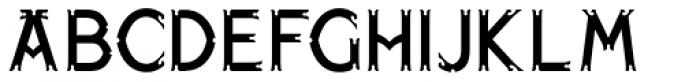 Paget Font LOWERCASE