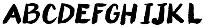 Paint Italic Font UPPERCASE