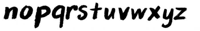 Paint Italic Font LOWERCASE