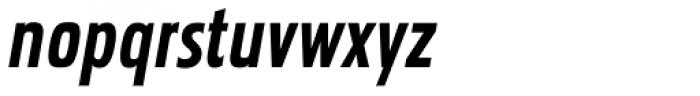 Pakenham Cond Bold Italic Font LOWERCASE