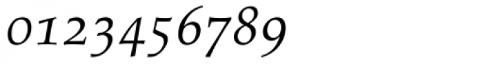 Palatino Italic Old Style Figures Font OTHER CHARS