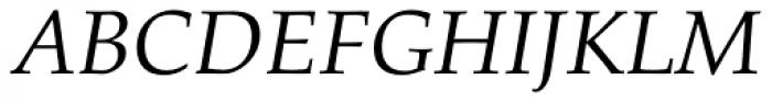 Palatino Pro Italic Font UPPERCASE
