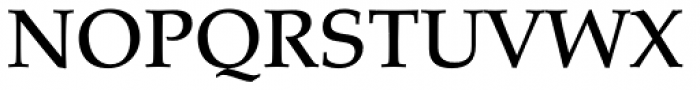 Palatino Pro Medium Font UPPERCASE