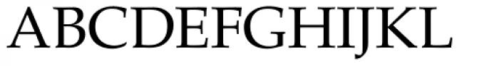 Palatino Roman Font UPPERCASE