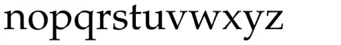 Palatino Roman Font LOWERCASE