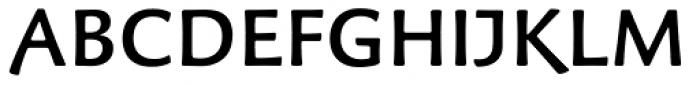 Palatino Sans Informal Medium Font UPPERCASE