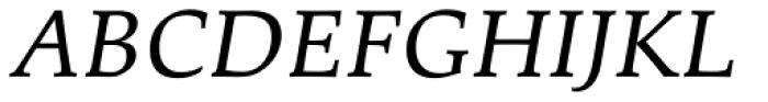 Palatino eText Italic Font UPPERCASE