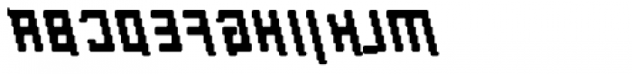 Palindrome Italic Fusion Mirror Font UPPERCASE