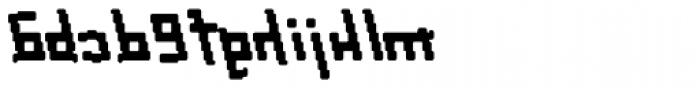Palindrome Italic Fusion Mirror Font LOWERCASE