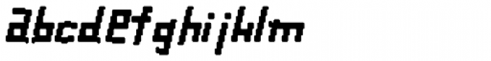 Palindrome Italic Fusion Font LOWERCASE