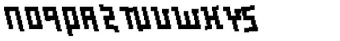 Palindrome Italic Mirror Font UPPERCASE
