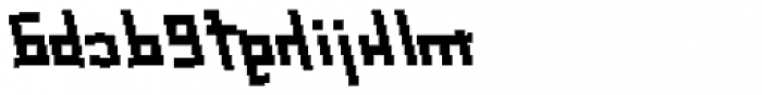 Palindrome Italic Mirror Font LOWERCASE