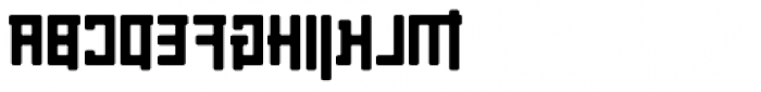 Palindrome Round Mirror Font UPPERCASE