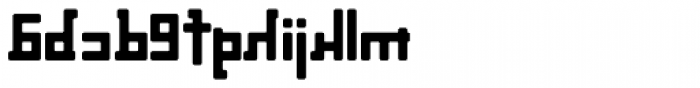 Palindrome Round Mirror Font LOWERCASE