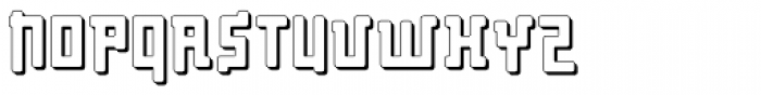 Palindrome Round Perspective Font UPPERCASE