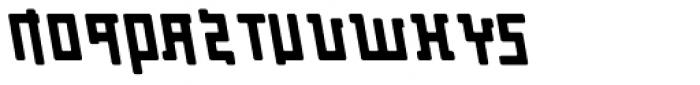Palindrome Round Slant Mirror Font UPPERCASE