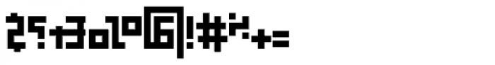 Palindrome Square Mirror Font OTHER CHARS