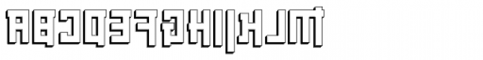 Palindrome Square Perspective Mirror Font UPPERCASE