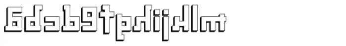 Palindrome Square Perspective Mirror Font LOWERCASE