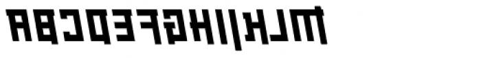 Palindrome Square Slant Mirror Font UPPERCASE