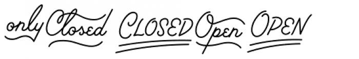 Palm Canyon Drive Bonus Glyphs Light Font LOWERCASE