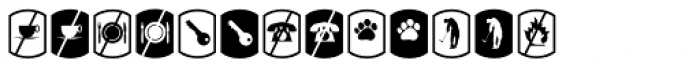 Palm Icons No Signs Font UPPERCASE