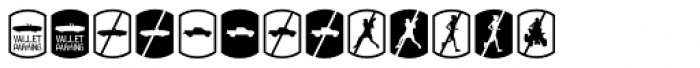 Palm Icons No Signs Font LOWERCASE