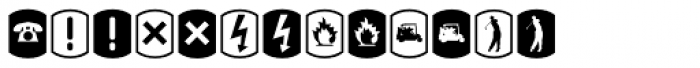 Palm Icons Signs Font UPPERCASE