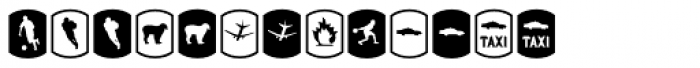 Palm Icons Signs Font LOWERCASE