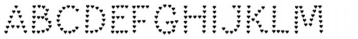 Paltime Heart Font UPPERCASE