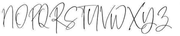 Pamella Regular Font UPPERCASE