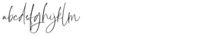 Pamella Regular Font LOWERCASE